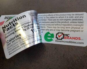 Peel back label Hinge Label