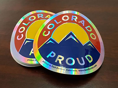 colorado proud metallic labels and stickers